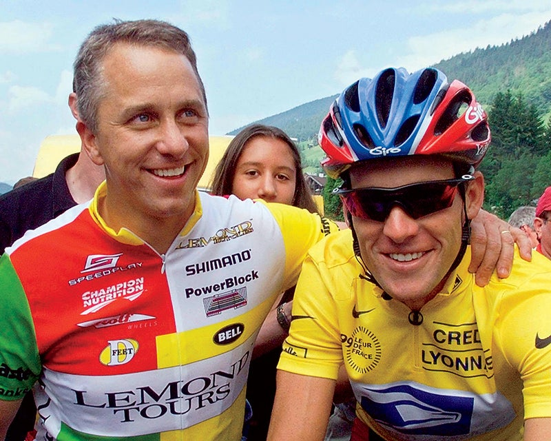 LeMond and Armstrong in chummier times. Click to enlarge.