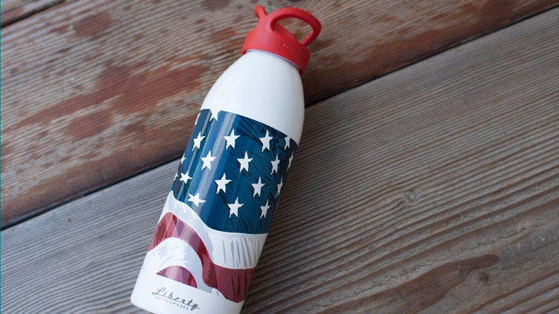 Liberty Bottle Works W.O.W Flag Bottle tailgating wild file the current outside outside magazine outside online summer celebration independence day made in america