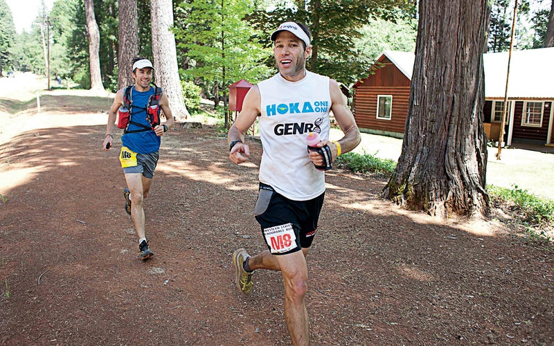Mackey at mile 62 during the Western States 100.