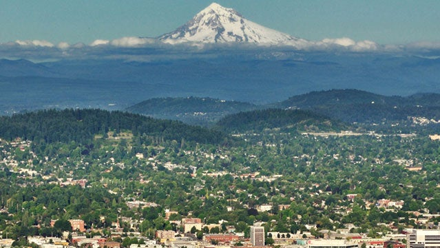 mount hood oregon moutains urban city trail system single track