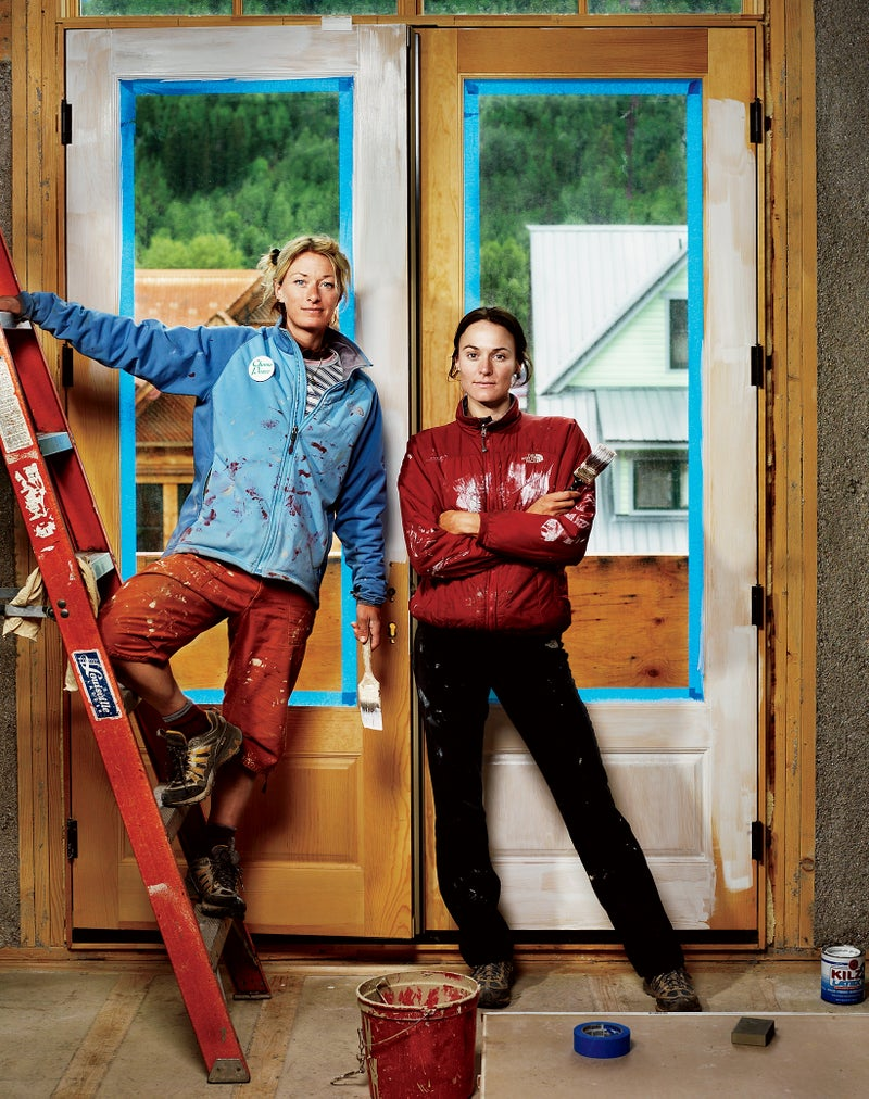 Rigby and O'Neill at work in O'Neill's Telluride home, July 2006. Click to enlarge.