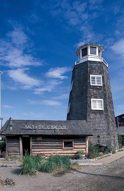 USA Alaska Homer Kenai Peninsula Landscape Exterior Outside Nobody Summer Bar Salty Dawg Saloon Lighthouse Outdoors outside magazine