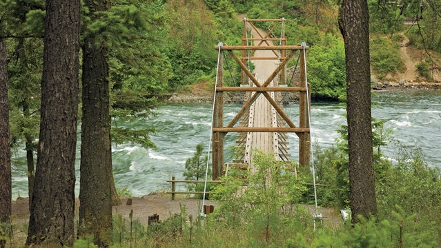 Spokane river Spokane River Riverside State Park Riverside State Park trail bridge