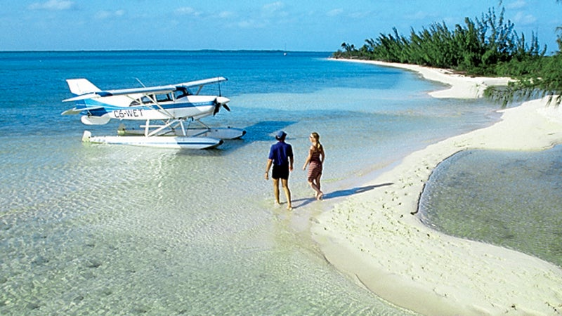 bahamas out islands seaplane andros vacation adventure beach sandbar flying plane caribbean exploring pristine exotic