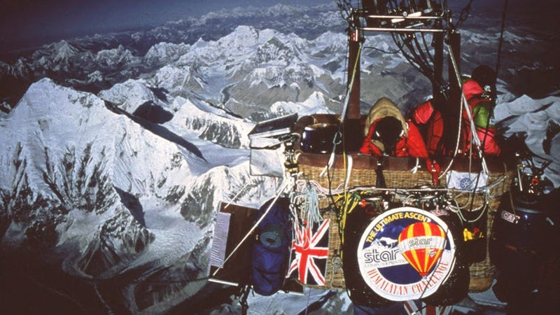 mount everest ifonly chris dewhirst hot air balloon
