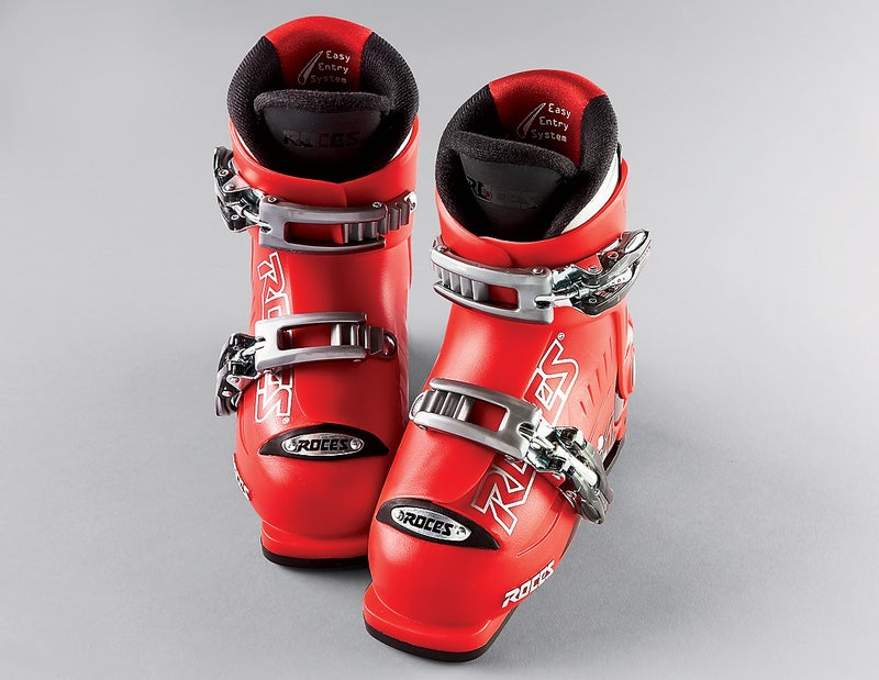 Roces's adjustable IDEA ski boots.