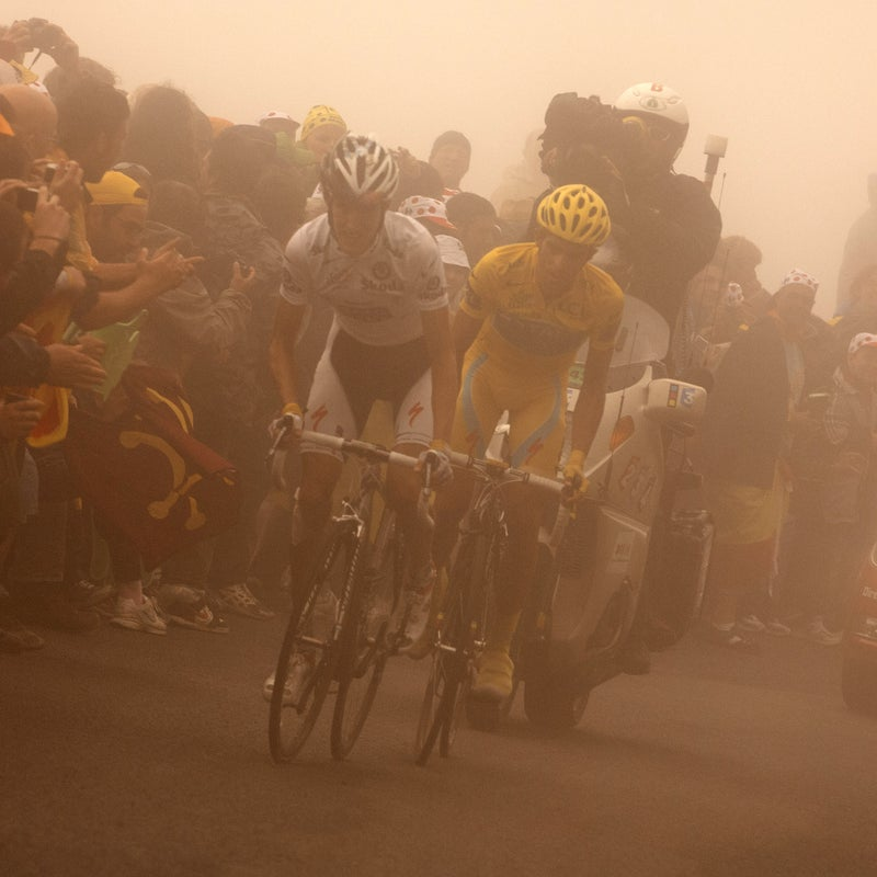 On the fog-ridden Tourmalet climb, Andy Schleck and Alberto Contador forged their epic rivalry during the 2009 Tour. The riders finished on the legendary Tourmalet Pass not once, but twice.