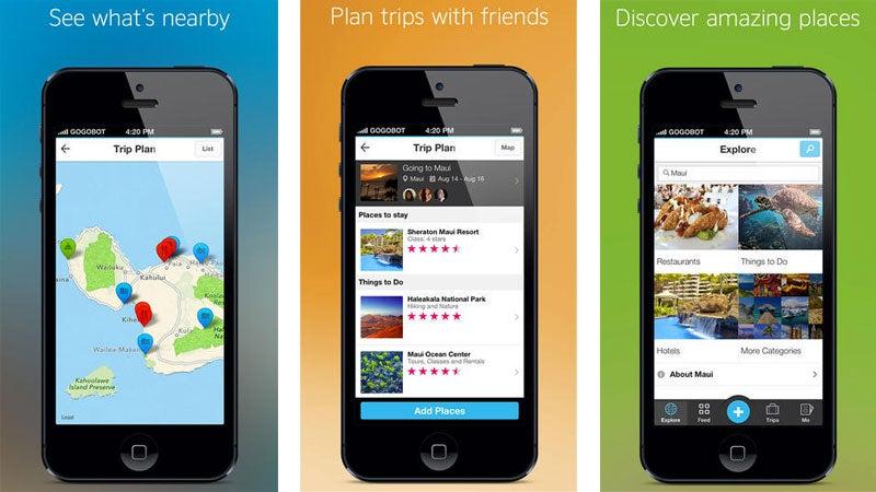 Gogobot travel app for iOS
