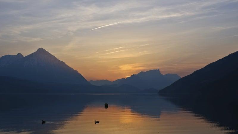 OutsideOnline inn hikes Lake Thun sunset Swiss Alps