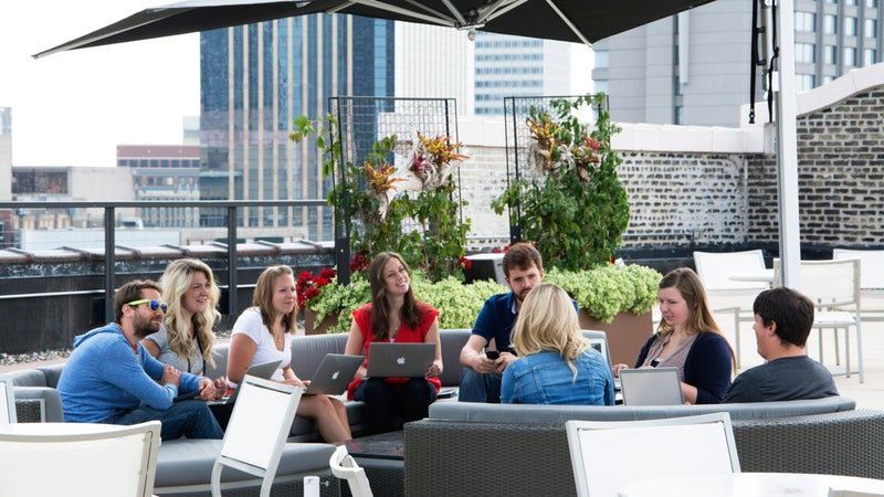 Best Places to Work outside