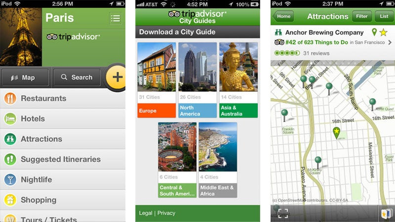 City Guides app for iOS