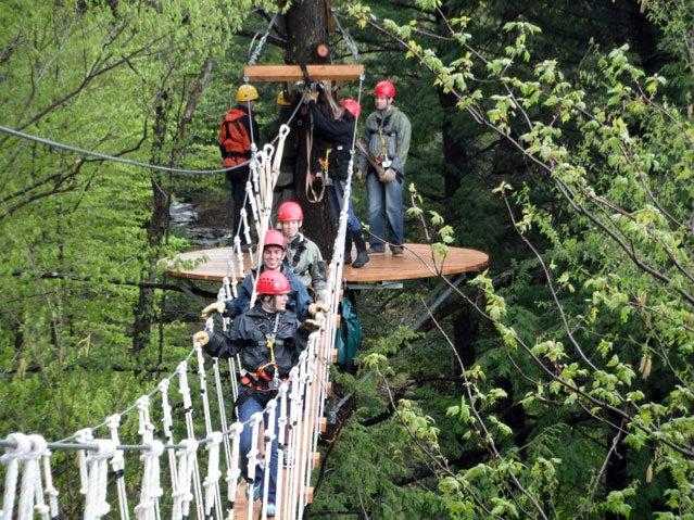 vermont bridge zip line