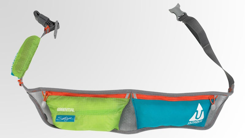 Ultimate Direction Jurek Essential fanny pack waist pack hip pack hawaiian print suede and nylon two-tone ripstop mesh pockets matthew mcconaughey outside outside magazine outside online joe jackson gear guy gear shed gear test