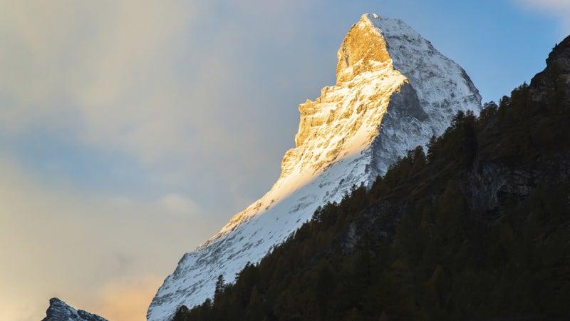 Matterhorn peak Zermatt Switzerland Italy OutsideOnline natural wonders global warming see before gone climate change mountains mts