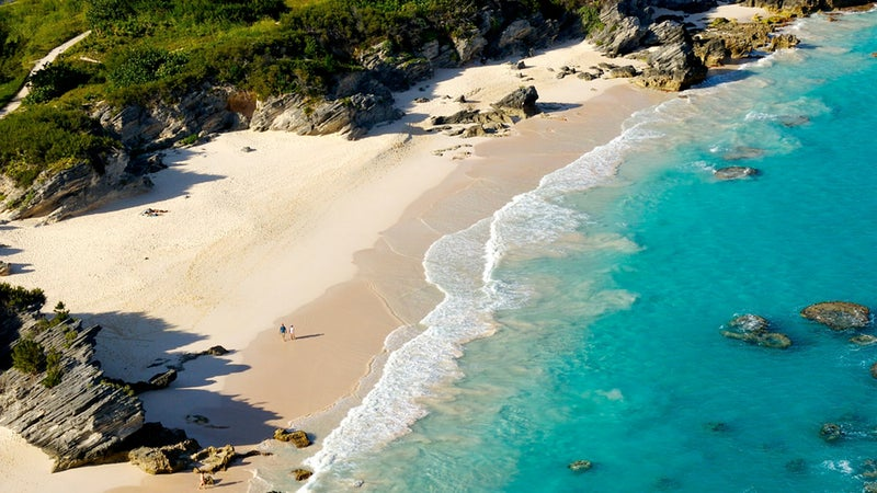 Wide-open Bermuda beach.