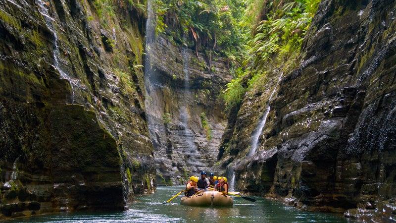 Fiji's Upper Navua River Gorge.