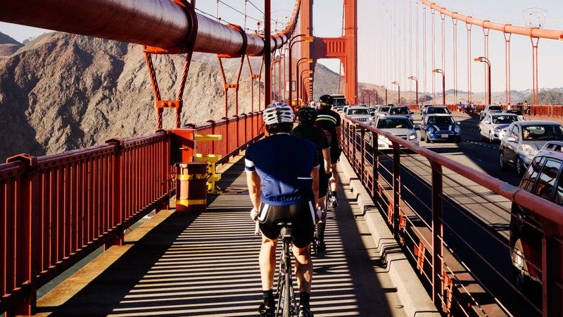 Marin-bound on the Golden Gate Bridge.