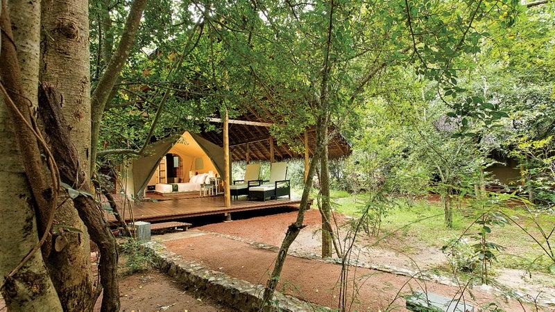 A tent at the Aliya Resort.