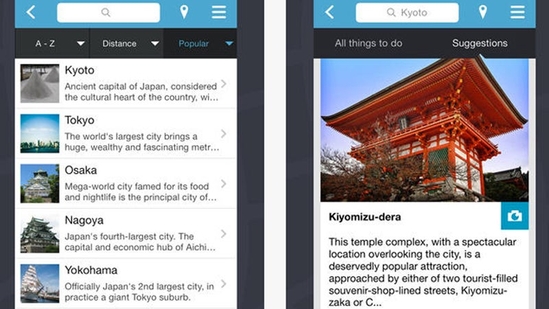 OutsideOnline Triposo best travel apps phone smartphone free guide